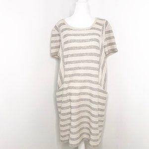 Caslon | Striped Front Pocket Dress